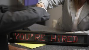 you're hired led signage