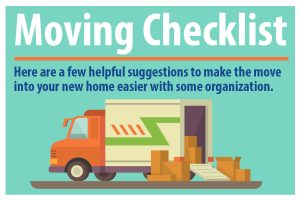 moving checklist for your new home