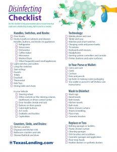 Disinfecting Checklist
